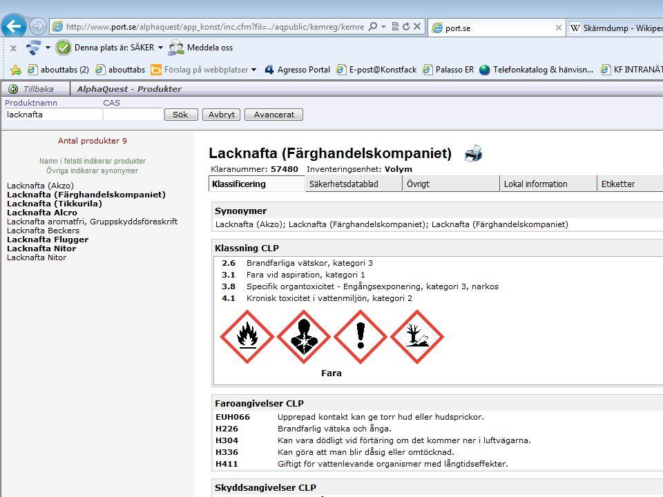 KLARA kemikalieregister