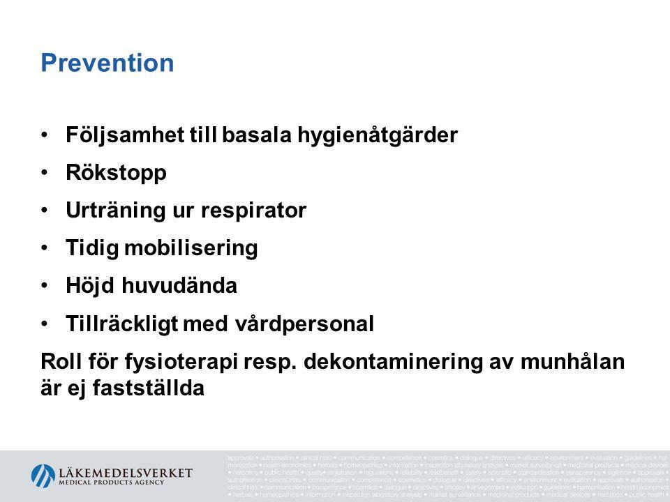 Kvalitetsindikatorer Infektionsregistrering Följsamhet till basala hygienrutiner Följsamhet till rekommendationer om diagnostik Svenska Intensivvårdsregistret, SIR