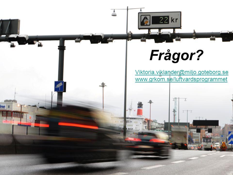 Frågor Viktoria.viklander@miljo.goteborg.se www.grkom.se/luftvardsprogrammet