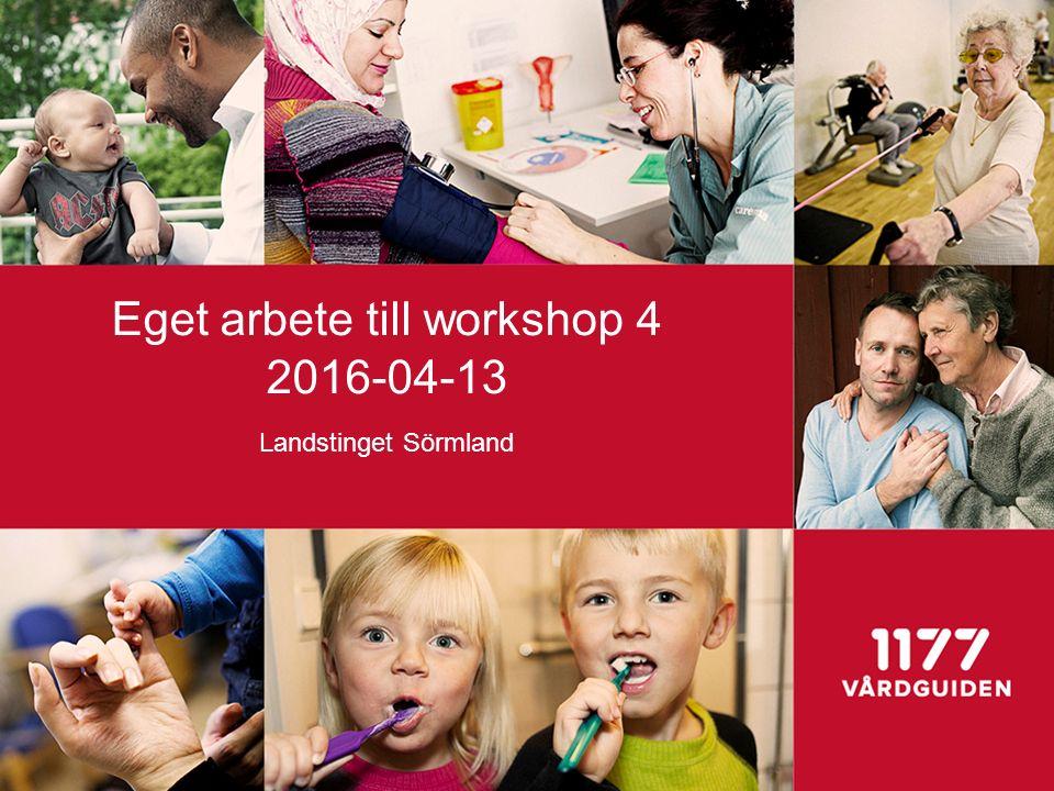 Eget arbete till workshop 4 2016-04-13 Landstinget Sörmland