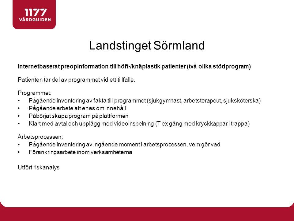 Hur har ni i ert landsting/region arbetat med att få beslut/förankring kring breddinförande av Stöd och behandling.