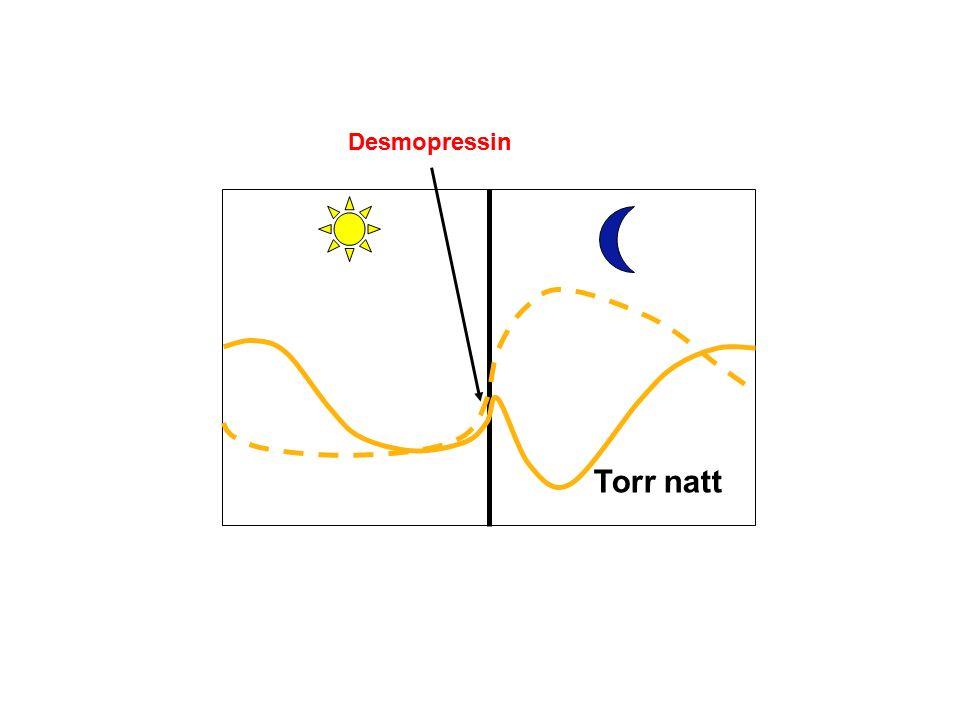 Torr natt Desmopressin