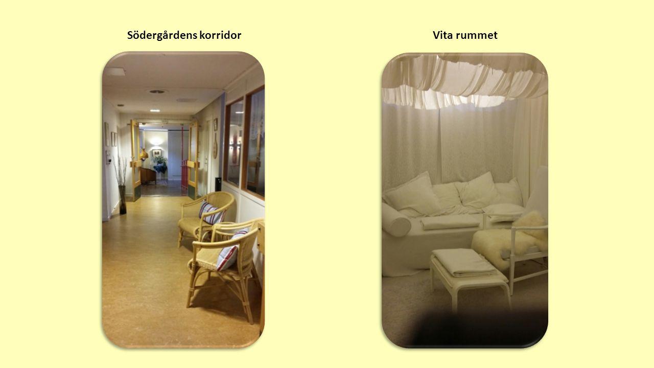 Södergårdens korridorVita rummet