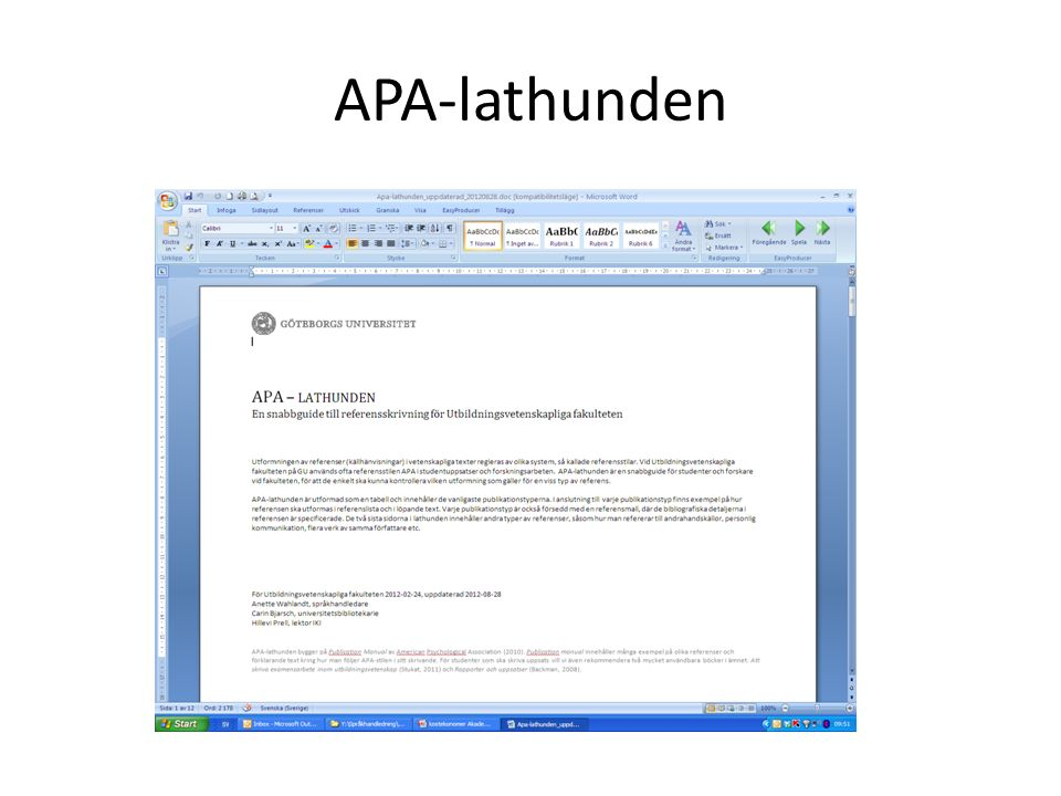 APA-lathunden
