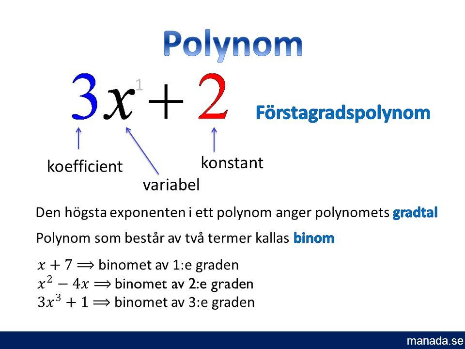 Samla termer i VL Minst en av faktorerna i VL måste vara 0, för att produkten ska bli 0 Faktorisera VL genom att bryta ut x Lös andragradsekvation: manada.se