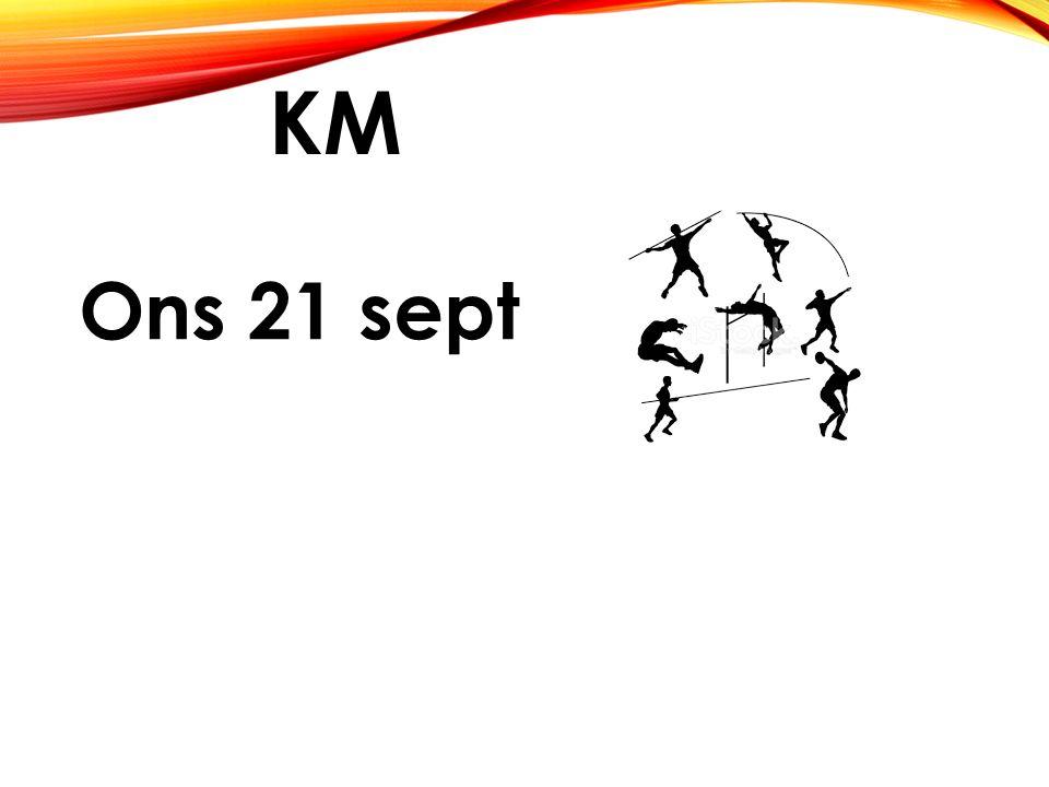 KM Ons 21 sept