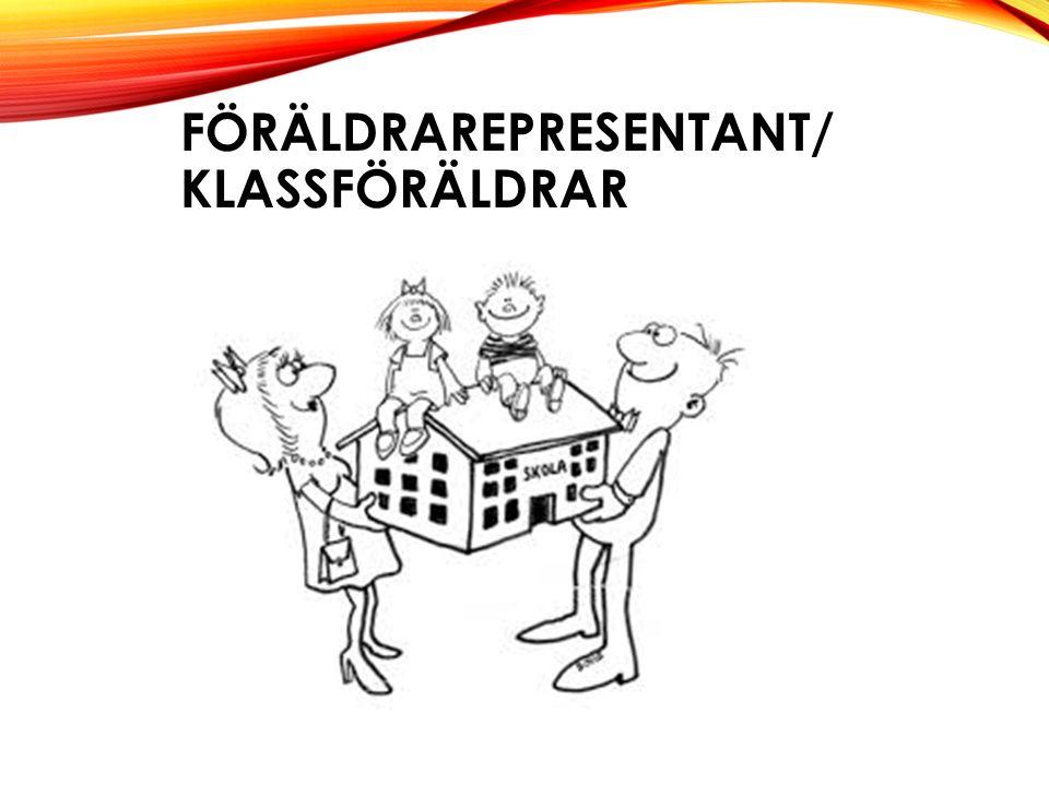 FÖRÄLDRAREPRESENTANT/ KLASSFÖRÄLDRAR