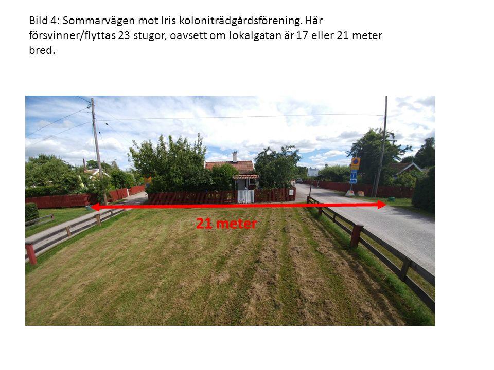 Bild 4: Sommarvägen mot Iris koloniträdgårdsförening.