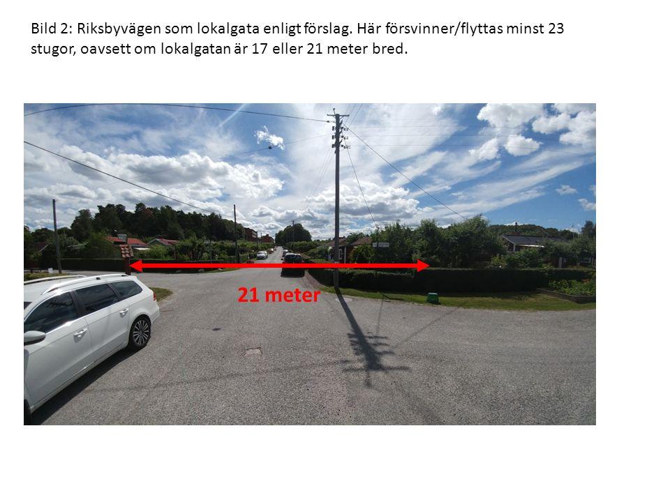 Bild 2: Riksbyvägen som lokalgata enligt förslag.