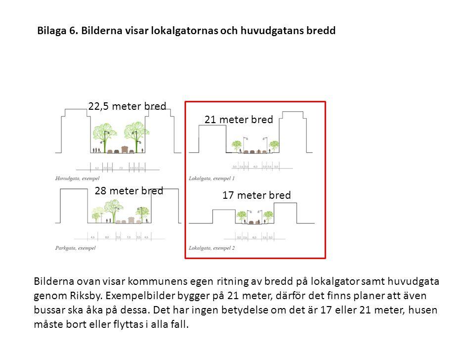 21 meter bred 17 meter bred 22,5 meter bred 28 meter bred Bilaga 6.