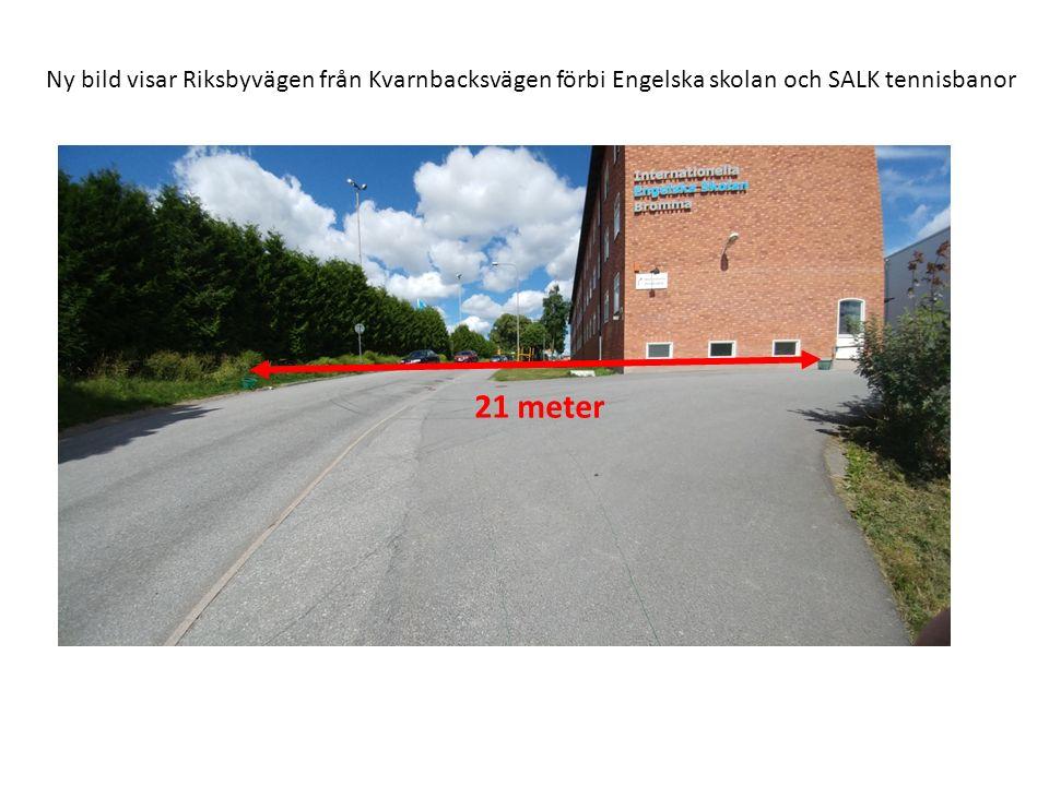 Ny bild från Riksbyvägen ned mot Kvarnbacksvägen 21 meter