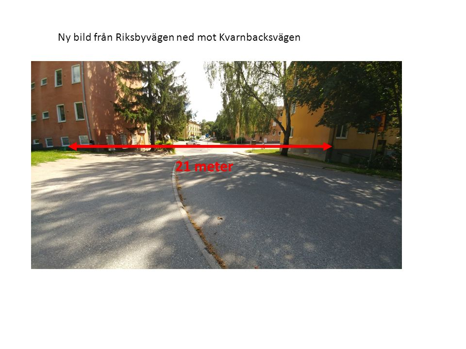 Ny bild lokalgata från Kvarnbacksvägen mot Sommarvägen