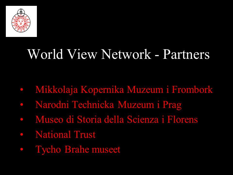 World View Network - Partners Mikkolaja Kopernika Muzeum i Frombork Narodni Technicka Muzeum i Prag Museo di Storia della Scienza i Florens National Trust Tycho Brahe museet