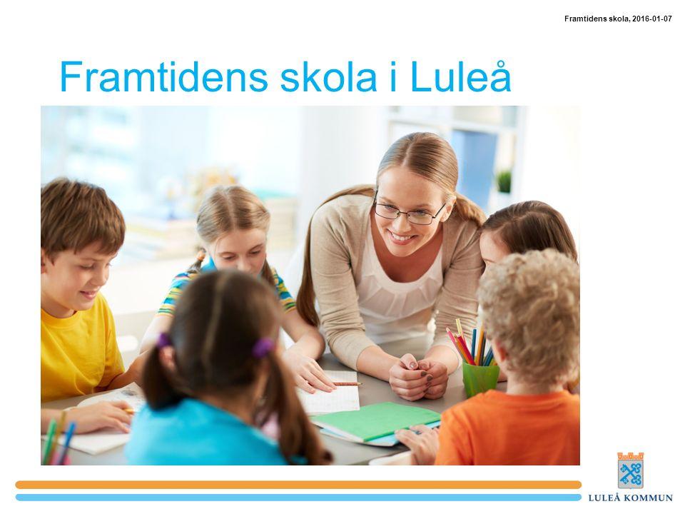 Framtidens skola i Luleå Framtidens skola, 2016-01-07