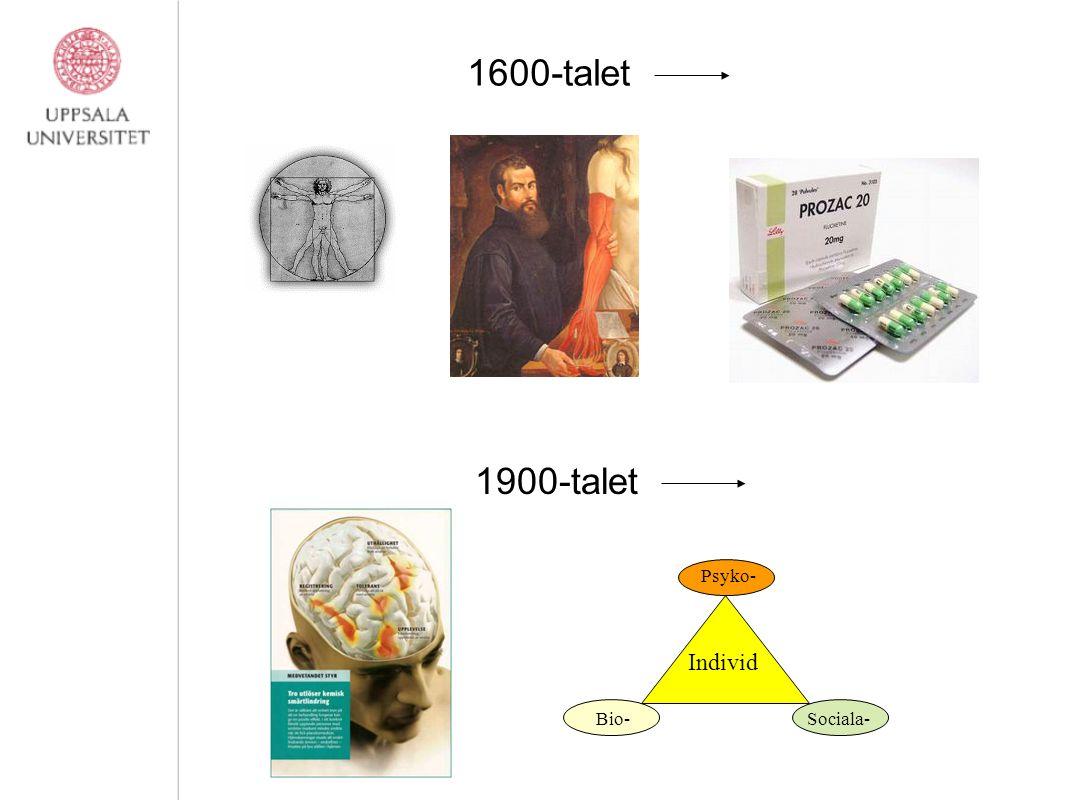 Antonovsky, 1987; Bradley, 1993; Ryan&Travis, 1981 1600-talet 1900-talet Bio- Psyko- Sociala- Individ