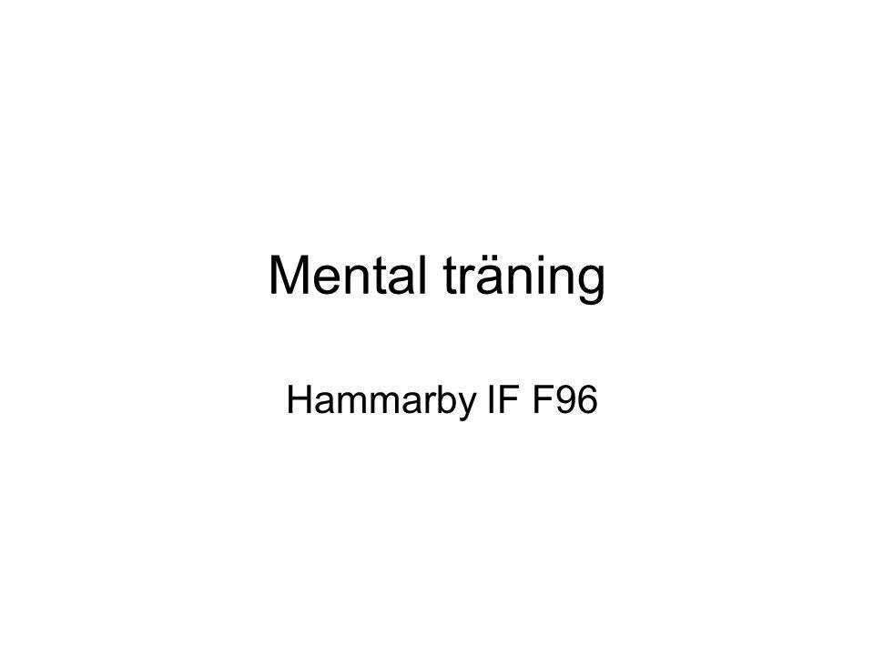 Mental träning Hammarby IF F96