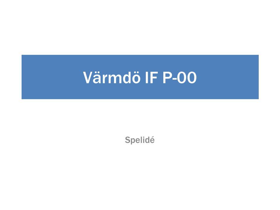 Värmdö IF P-00 Spelidé