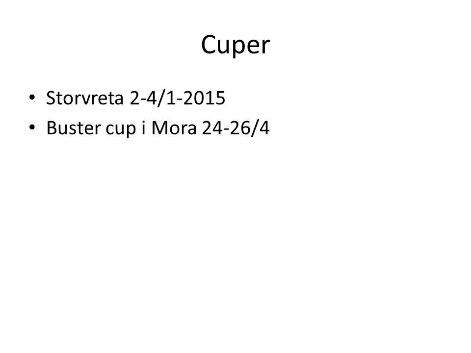 Cuper Storvreta 2-4/1-2015 Buster cup i Mora 24-26/4