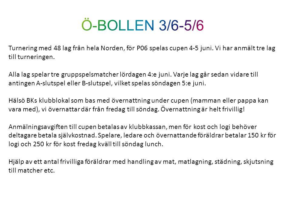 Turnering med 48 lag från hela Norden, för P06 spelas cupen 4-5 juni. Vi har anmält tre lag till turneringen. Alla lag spelar tre gruppspelsmatcher lö