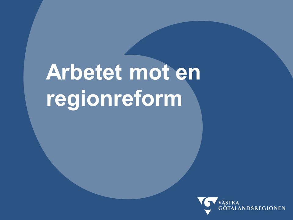 Arbetet mot en regionreform