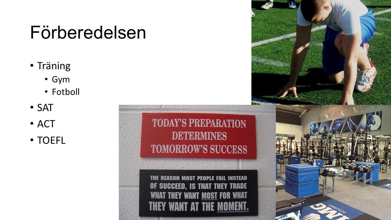 Förberedelsen Träning Gym Fotboll SAT ACT TOEFL