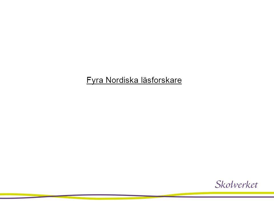 Fyra Nordiska läsforskare