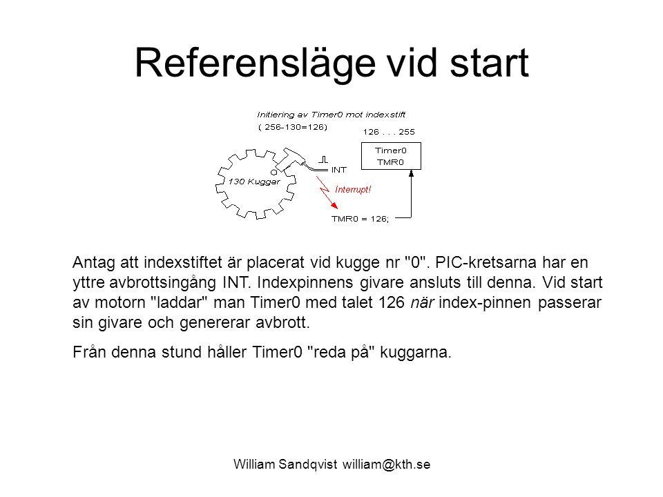 William Sandqvist william@kth.se Referensläge vid start Antag att indexstiftet är placerat vid kugge nr 0 .