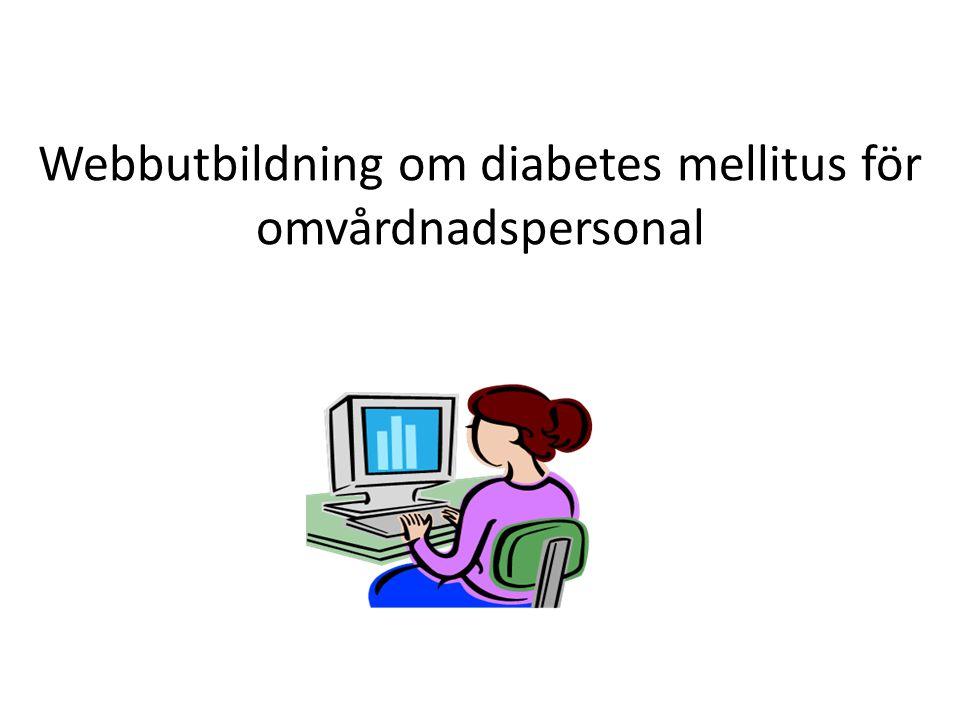 Webbutbildning om diabetes mellitus för omvårdnadspersonal
