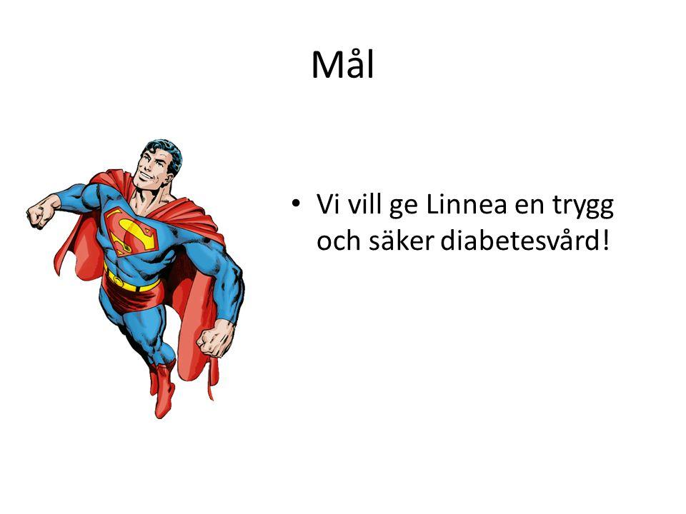 Mål Vi vill ge Linnea en trygg och säker diabetesvård!
