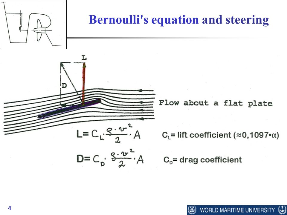 4 Bernoulli's equation and steering