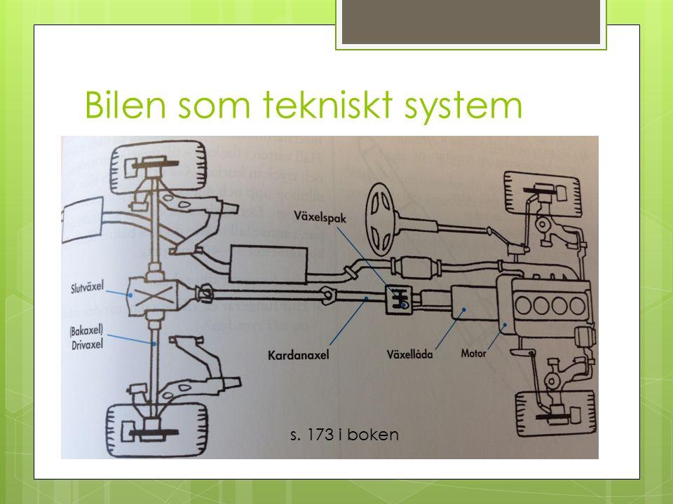 Bilen som tekniskt system s. 173 i boken