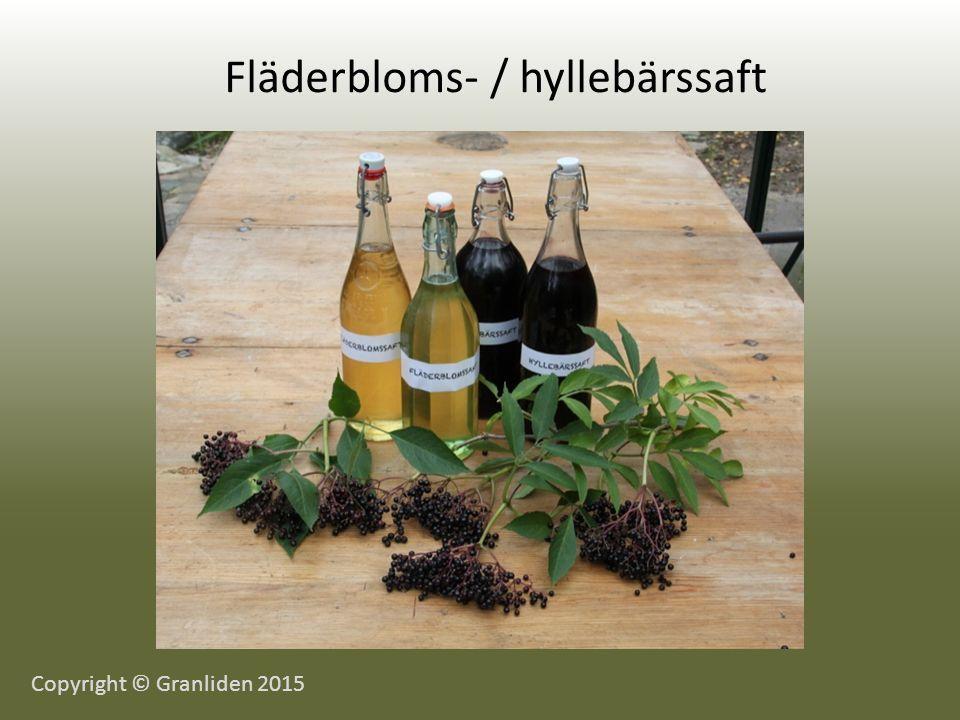 Fläderbloms- / hyllebärssaft Copyright © Granliden 2015