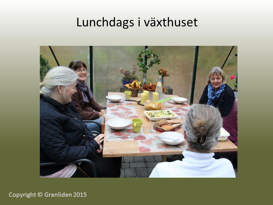 Lunchdags i växthuset Copyright © Granliden 2015