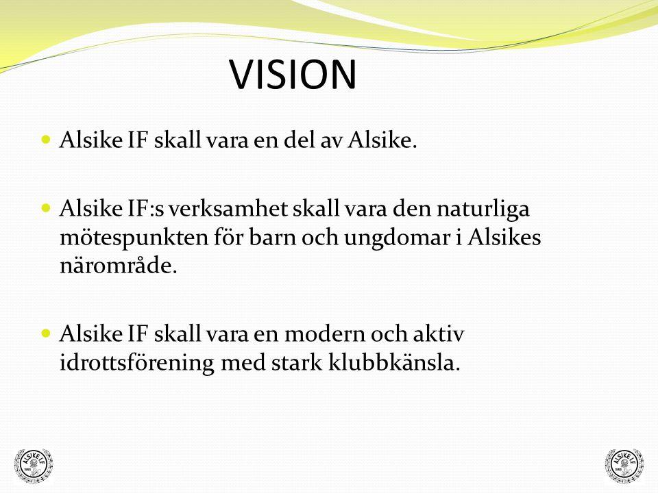 VISION Alsike IF skall bedriva idrott med fokus på barn och ungdomar.