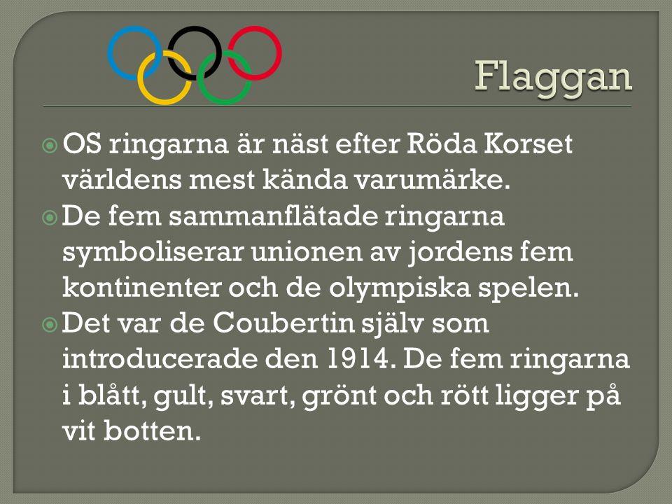  OS ringarna är näst efter Röda Korset världens mest kända varumärke.