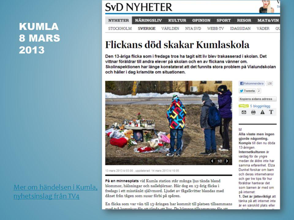 KUMLA 8 MARS 2013 Mer om händelsen i Kumla, nyhetsinslag från TV4
