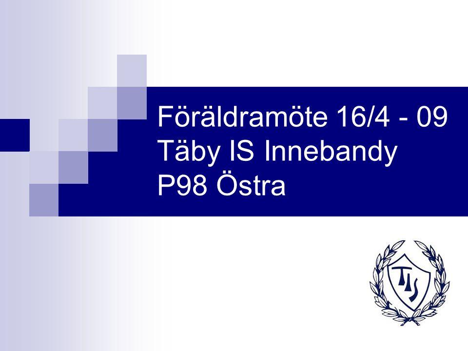 Föräldramöte 16/4 - 09 Täby IS Innebandy P98 Östra