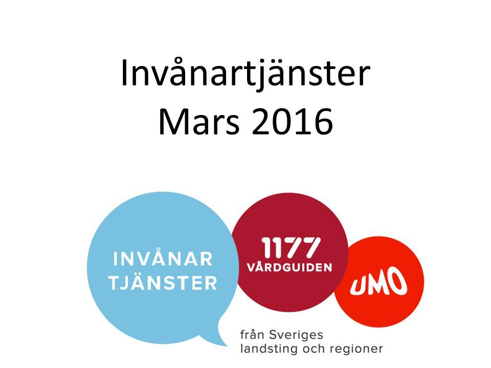 Invånartjänster Mars 2016