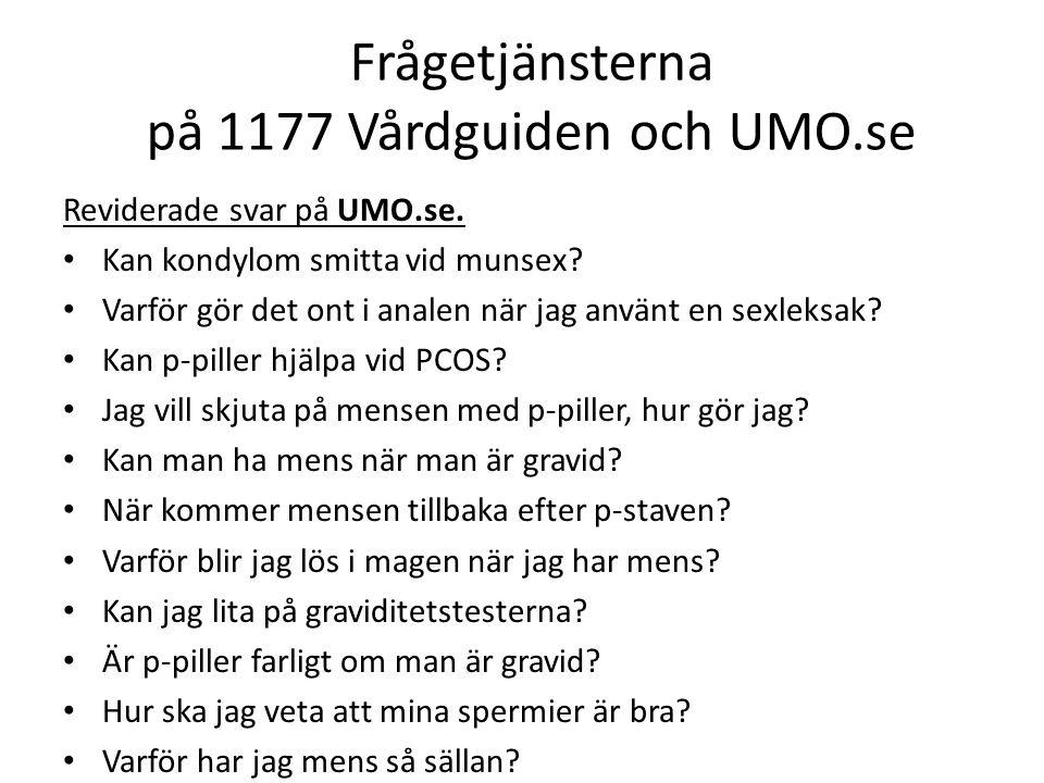 Reviderade svar på UMO.se. Kan kondylom smitta vid munsex.