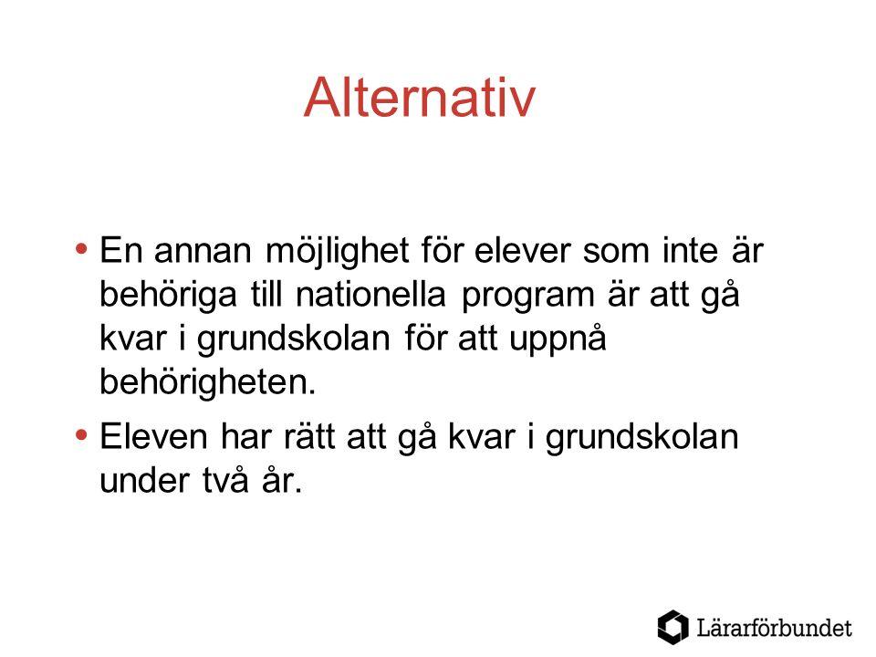 Behörighetskrav För samtliga nationella program krävs godkända betyg i  Svenska eller svenska som andraspråk  Matematik  Engelska.