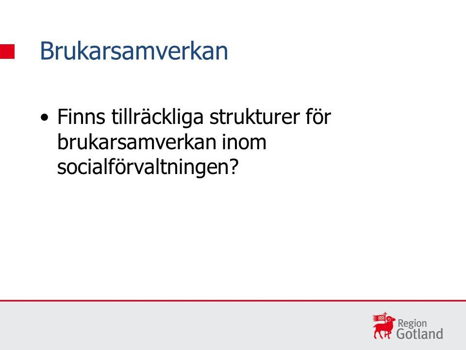 Finns tillräckliga strukturer för brukarsamverkan inom socialförvaltningen? Brukarsamverkan