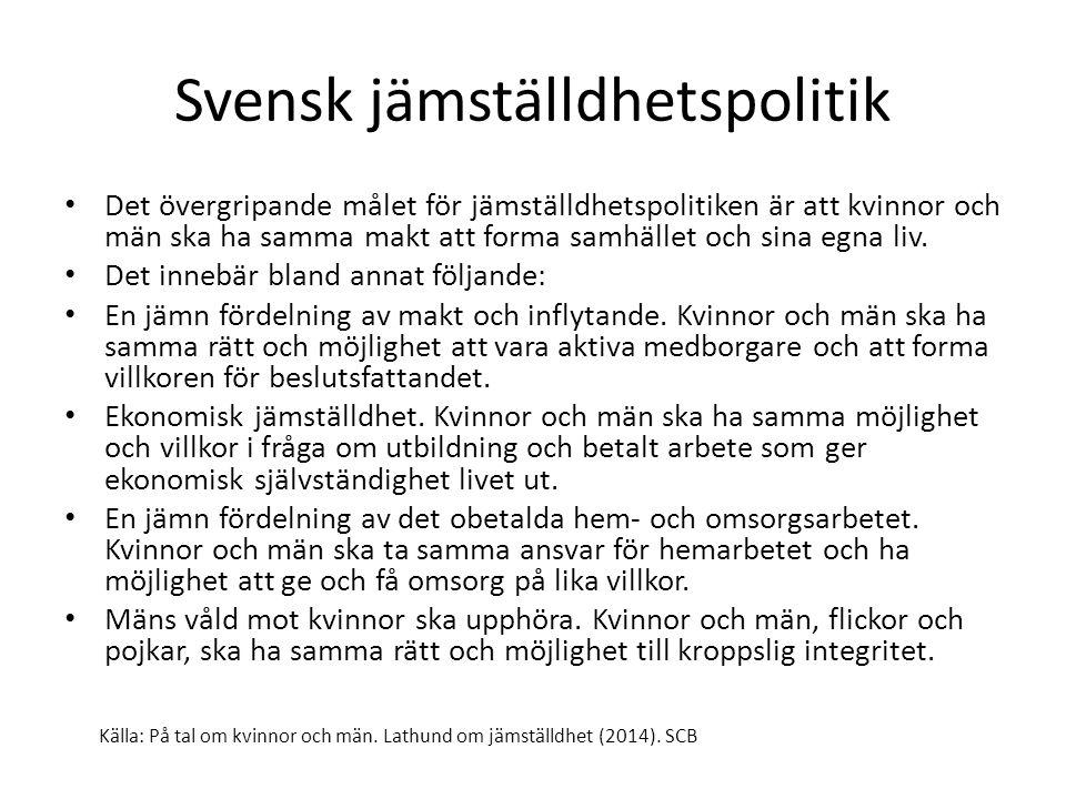 På tal om kvinnor och män.Lathund om jämställdhet från statistiska centralbyrån Läs om lön s.
