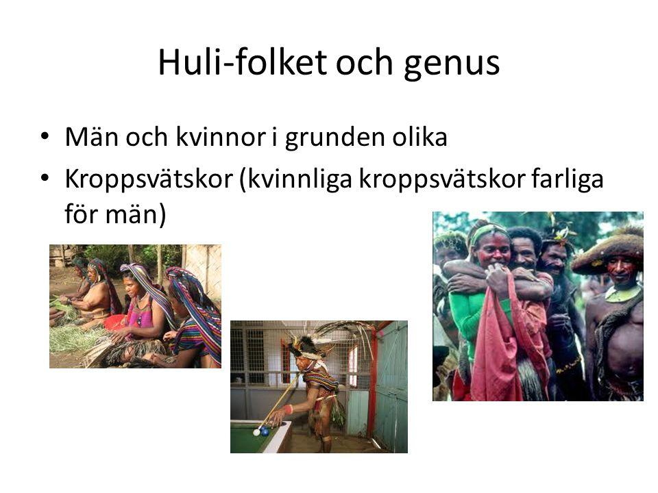 Huli-folket och genus Män och kvinnor i grunden olika Kroppsvätskor (kvinnliga kroppsvätskor farliga för män)