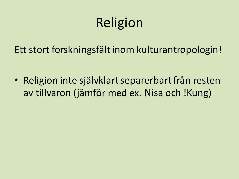 Tylers definition av religion:
