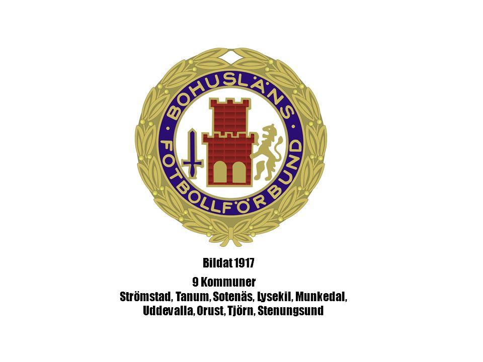 9 Kommuner Strömstad, Tanum, Sotenäs, Lysekil, Munkedal, Uddevalla, Orust, Tjörn, Stenungsund Bildat 1917
