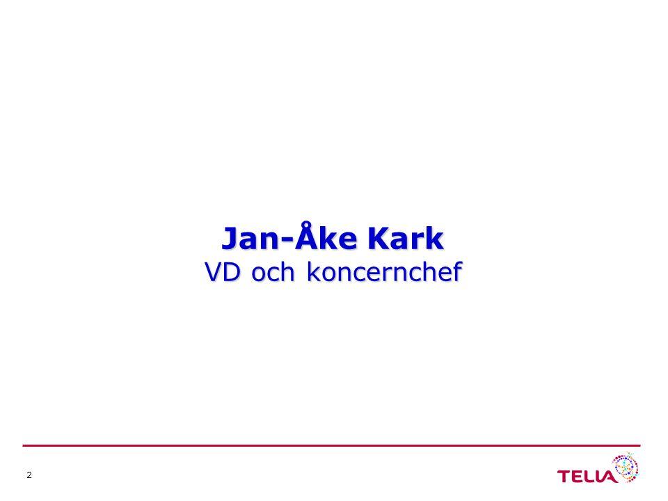 2 Jan-Åke Kark VD och koncernchef