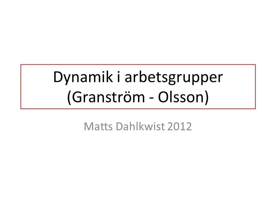 Läsanvisningar Granström: Kap 1: sammanfaller delvis m föregående kurs Intensivt: Kap 2 och framåt Kap 6 sammanfaller delvis m Wilhelmsson Olsson: Kap 3 extensivt