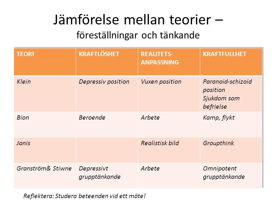 Oinspirerade möten (Granström) Överflöd på information Känsla av bristande mening.