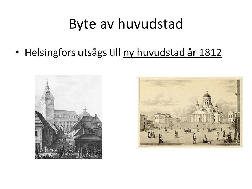 Byte av huvudstad Helsingfors utsågs till ny huvudstad år 1812