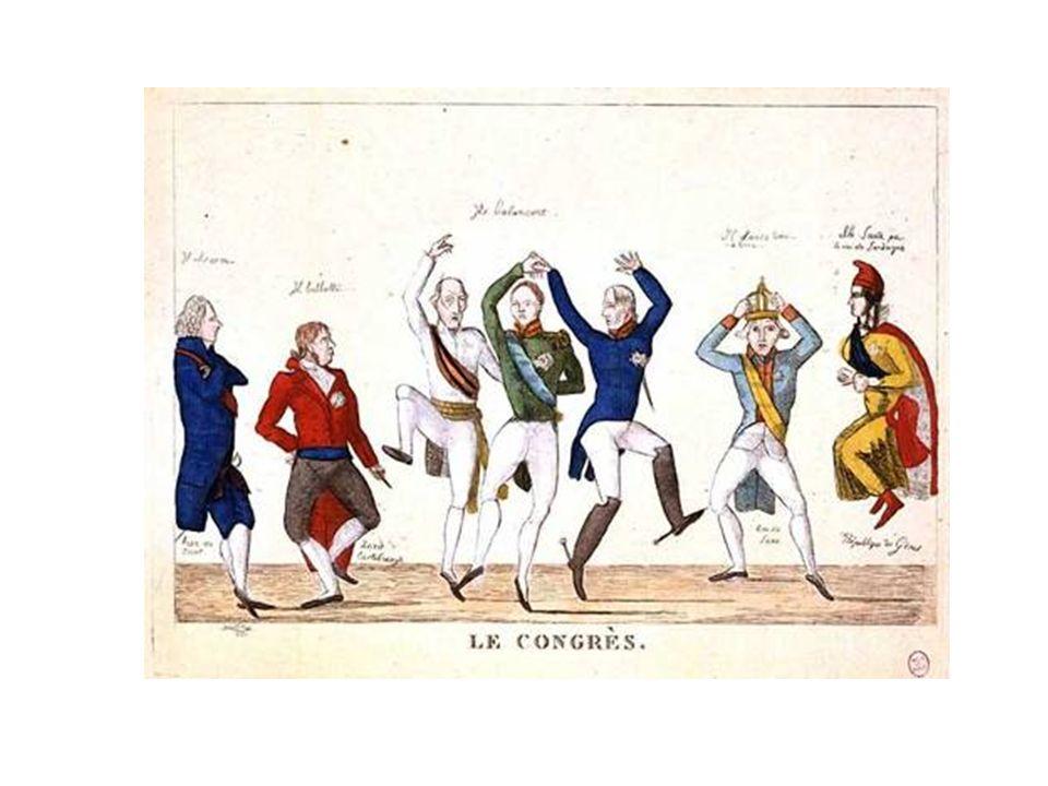 Efter segern över Napoleon samlades regenter som stödde konservatismen till en kongress i Wien Man beslöt att avsatta regenter skulle få sin makt tillbaka och att man skulle försöka bevara samhällen som de var För Finlands del kom det att betyda att lantdagen inte samlades mellan åren 1809–1863